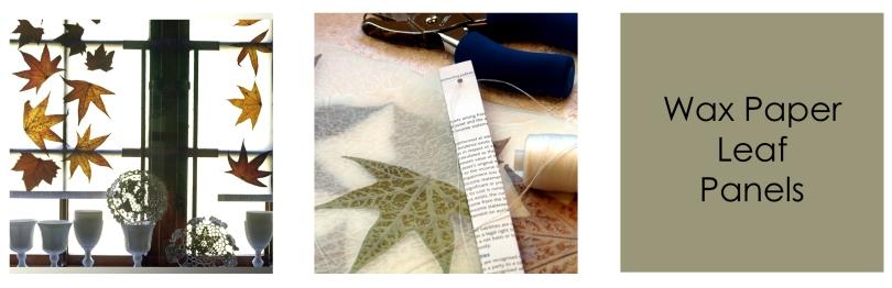Tutorial - Freshly Found Wax leaf panels  trio -1